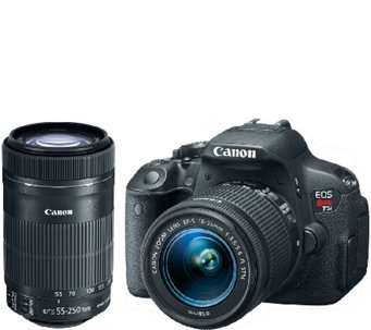 Canon EOS Rebel T5i 18 Megapixel DSLR Camera with 2 Lenses - E281010