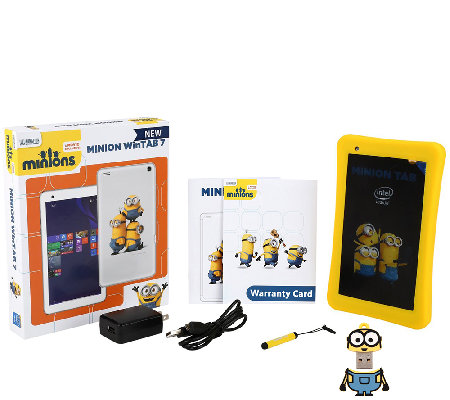 "Minion 7"" 16GB WinTab Kids Windows Tablet with Accessories"