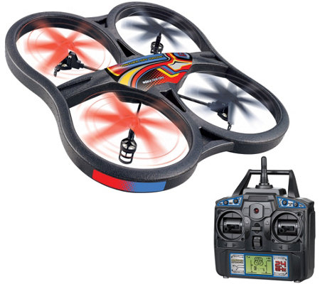 "Panther 23""Wide Drone w/ Camera FlipStunt Mode LED Lights,Apps & Controller"