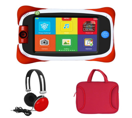 "nabi Jr 5"" Kids Android Tablet DropSafe Bumper Headphones & Carrying Case"