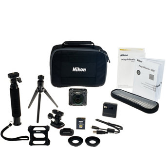 Nikon KeyMission 360 4K Action Camera with Accessory Pack - E229911