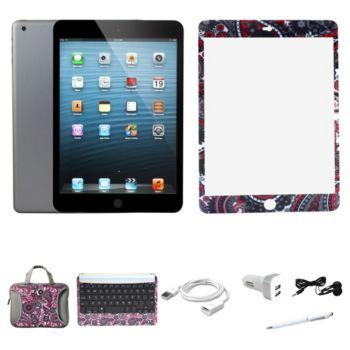 Apple iPad Mini 2 32GB w/ Carry Case BT Keyboard & ScreenProtector