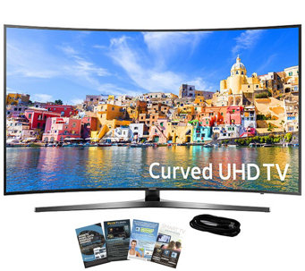 "Samsung 43"" LED Curved Ultra HDTV with App Packand HDMI Cable - E289211"