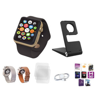 Apple Watch 42MM Face with 2 Additonal Bands,Protector Stand &App Pack - E230112