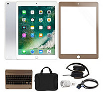 "Apple iPad 9.7"" 32GB Wi-Fi Tablet w/ Headphones and Accessories - E231812"