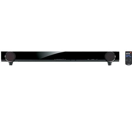 yamaha slim sound bar speaker system. Black Bedroom Furniture Sets. Home Design Ideas