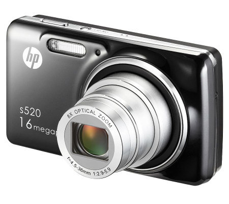 "HP S520 Digital Camera - 16MP, 8X Optical Zoom,3"" LCD"