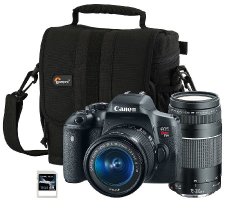 Canon EOS Rebel T6i Digital Camera w/ 2 Lenses, Bag & SD Card