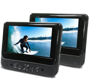 "Ematic 7"" Dual Screen Portable DVD Player - E287012"