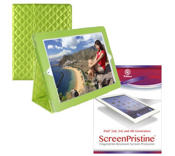 "iPad 9.7"" Quilted Case w/ 2 Screen Protectors & Cleaning Cloth - E225413"