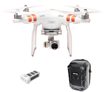 DJI Phantom 3 Standard Drone Hard Backpack, Extra Battery, HD Wifi Stream - E229013