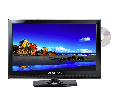 "Axess 15"" Class LED TV with Built-In DVD Player"