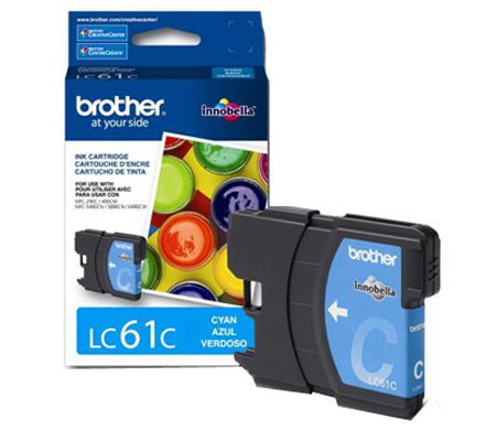 Brother LC61C Innobella Standard Yield Cyan InkCartridge