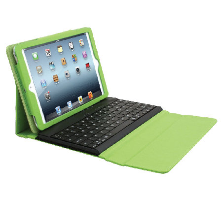 Apple iPad Mini Wireless Bluetooth Keyboard Case & Charge Cable