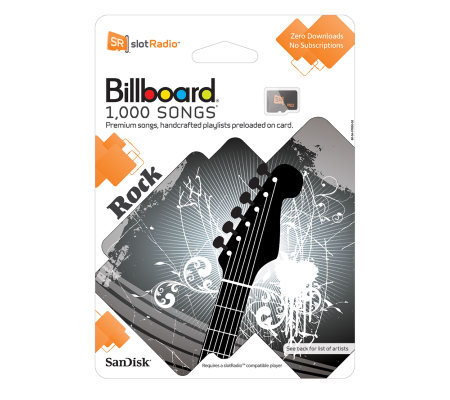 SanDisk slotRadio 1000 Rock Songs Preloaded MicroSD Card