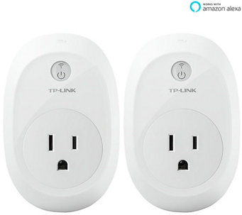 TP-Link Set of 2 Wi-Fi Smart Plugs with Energy Monitoring - E229416