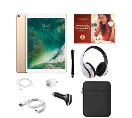 "Apple iPad Pro 10.5"" 64GB Wi-Fi Tablet with Software & Accessories"
