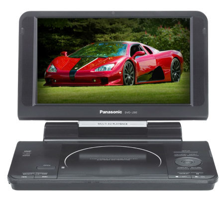 "Panasonic 9"" Diagonal Widescreen LCD Portable DVD/CD Player"