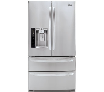LG 26.8 Cu. Ft. Ultra-Capacity 4-Door French Door Refrigerato - E283216