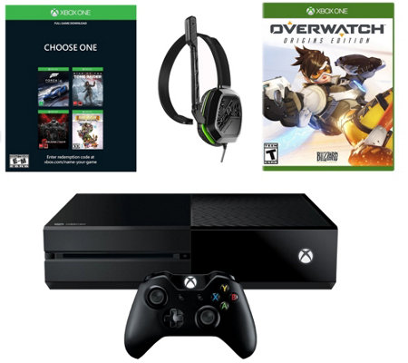 Xbox One 500GB Name Your Game Console Bundle with Overwatch