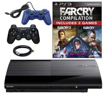 Sony PS3 Slim 500GB w/ Far Cry Compilation & Extra Controller - E290316
