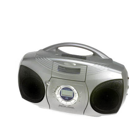 Audiovox AM/FM Boombox w/ CD and Cassette Player