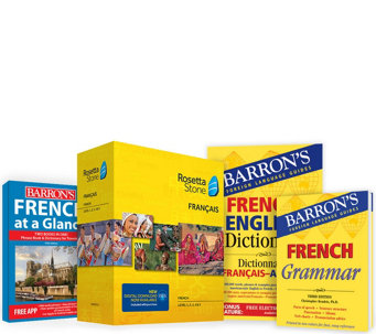 Rosetta Stone Barron's Bundle Language Learn Choice of 4 Languages - E230217
