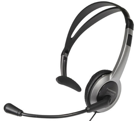 Panasonic Lightweight Headset for Telephones w/Volume Control
