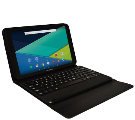 "Visual Land 10"" 16GB Intel Tablet with KeyboardCase"
