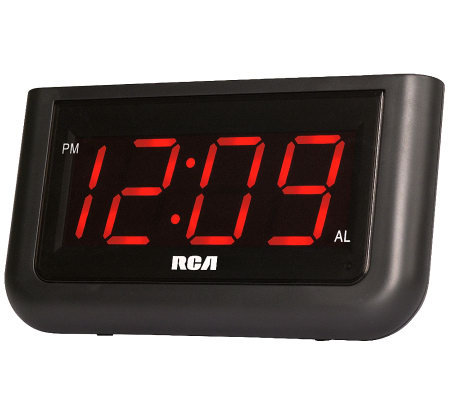 "RCA RC30 Single Wake Alarm Clock with 1.4"" Display"