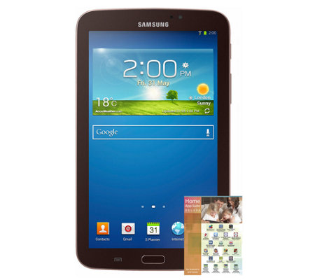 "Samsung 8GB 7.0"" Galaxy Tab 3 with App Software"