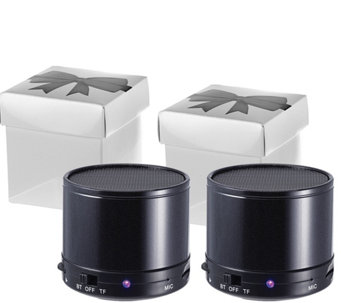 Craig Set of 2 Portable Bluetooth Speakers in Gift Box - E227219