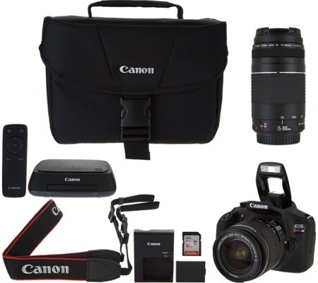 Canon Rebel T6 18MP DSLR Wi-Fi Camera w/ CS100 Connect Station & 2 Lenses