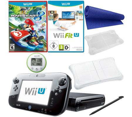 Wii U Mario Kart 8 Console Bundle with Wii FitU