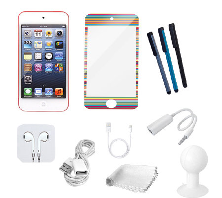 Apple iPod Touch w/ Tempered Glass Screen Protect, & Accessories