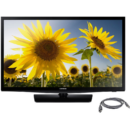 "Samsung 28"" Class Slim Design LED HDTV with HDMI Cable"