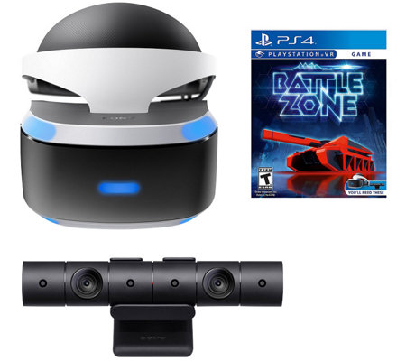 Sony PS4 Virtual Reality Bundle with Headset, Webcam, and Game