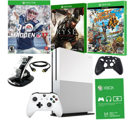 Xbox One S 1TB Madden NFL 17 Bundle w/ Games & Accessories