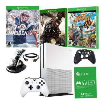 Xbox One S 1TB Madden NFL 17 Bundle w/ Games & Accessories