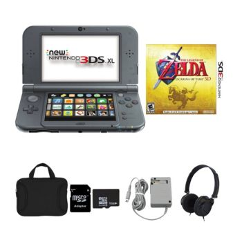 New Nintendo 3DS XL with Zelda Game, AC Adapter, and Accessories