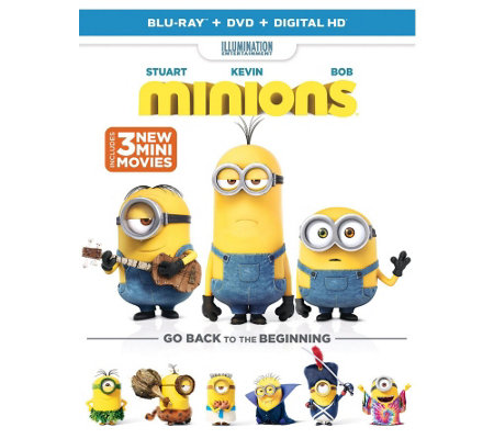 Minions Blu-Ray, DVD, and Digital HD