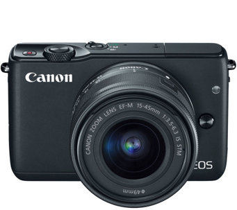 Canon EOS M10 Black Camera Body with Black 15-45mm IS STM Len - E287621