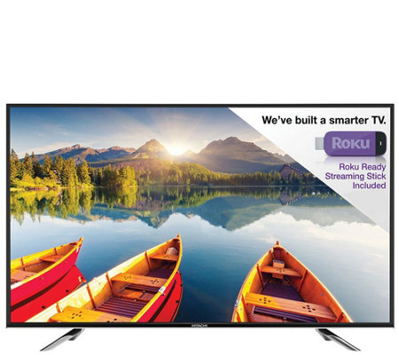 "Hitachi 50"" 1080p LED HDTV with Roku StreamingStick"