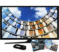 "Samsung 32"" M5300 LED Smart HDTV, 6' HDMI Cable, and Software - E291521"
