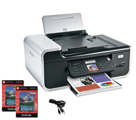Lexmark X7675 Wireless All-in-One with USB Cable & Photo Paper