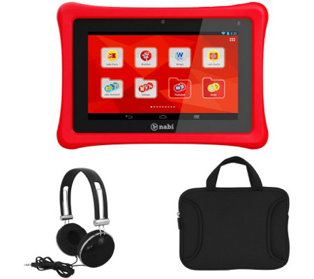 "Nabi 2s 7"" Wi-Fi Tablet with Bumper & Headphones"