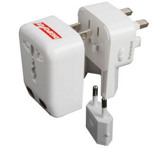 DigiPower ACP-WTA World Travel Adapter/USB - E243922
