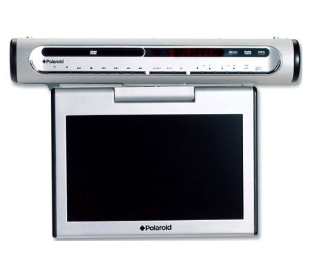 polaroid fdm 1015 10 diagonal under the cabinet lcd tv w dvd. Black Bedroom Furniture Sets. Home Design Ideas