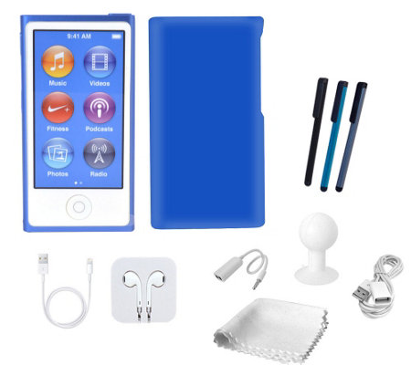 Apple 16GB iPod Nano with Touchscreen, Sparkle Case & Accessories