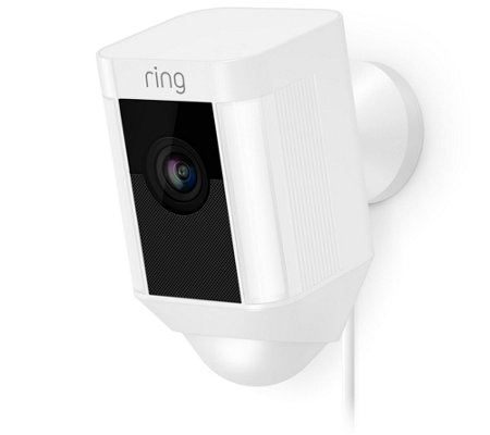 Ring Spotlight Cam, Outdoor HD Surveillance Two-Way Talk Wired Version